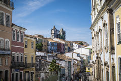 Pelourinho is one of the most famous places of Salvador for tour. Salvador, Brazil - October 26, 2016: Pelourinho is one of the most famous places of Salvador Stock Photos