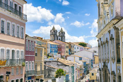 Pelourinho Salvador Brazil Colonial Postcard View Royalty Free Stock Image