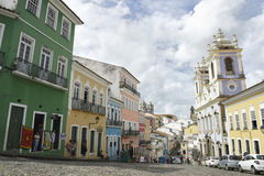 Pelourinho Salvador Brazil Historic City Center Skyline Stock Photography