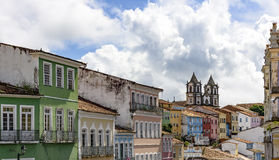 Pelourinho in Salvador. Houses and buildings of Pelourinho in Salvador with its colors and typical features Royalty Free Stock Photography