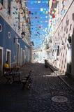 Pelourinho-Straßen Stockbild