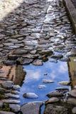 Pelourinho street. Paving stones in the old Pelourinho slopes in Salvador city, Bahia Royalty Free Stock Images