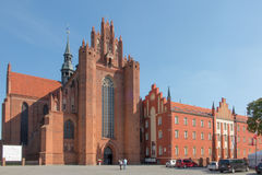 Pelplin, Poland - 1 September 2016: The old, historic Cathedral Stock Photo