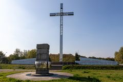 Free Pelplin, Pomeranian / Poland - September, 26, 2019: Mount John Paul II Near Pelplin. A Place Commemorating The Visit Of John Paul Royalty Free Stock Image - 159556506