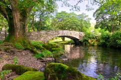 Pelter Bride. Pelter bridge over the river rothay at Rydal in Cumbria Royalty Free Stock Image