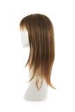 Peluca del pelo sobre la cabeza del maniquí Imagen de archivo libre de regalías