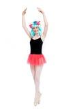 Peluca que lleva de la muchacha loca del ballet Imagenes de archivo