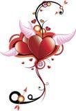 Pelucas del corazón Imagen de archivo libre de regalías
