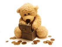 Peluche-bear&treasure Fotografia de Stock