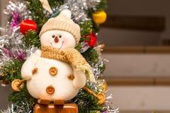 Peluche de bonhomme de neige Photos libres de droits