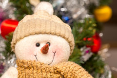 Peluche de bonhomme de neige Photo stock