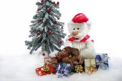 Peluche do Natal Imagens de Stock Royalty Free