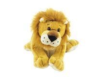 Peluche Lion Toy immagine stock