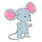 Peluche molle de jouet de petite souris Photographie stock libre de droits