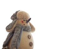 Peluche Toy Snowman Fotografia Stock Libera da Diritti