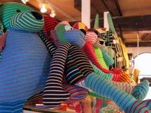 Peluches coloridos Foto de archivo libre de regalías