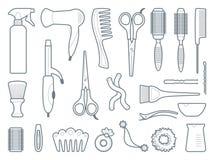 Peluquero Accessories Ilustración del vector Imagen de archivo