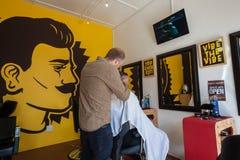 Peluquero Barber Men Imágenes de archivo libres de regalías