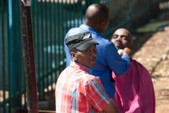 Peluquero de la calle, Johannesburgo Imágenes de archivo libres de regalías