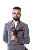 Peluqueros elegantes hombre, peines del pelo Diseñar el pelo Fotografía de archivo libre de regalías