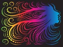Peluqueros extracto colorido de la cara y del pelo libre illustration