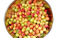 Pelvis with cherry-plum Royalty Free Stock Photos