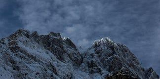 Pelvoux,法国阿尔卑斯在冬天 免版税库存图片