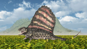 Pelycosaur Dimetrodon stock abbildung