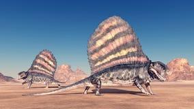 Pelycosaur Dimetrodon Stock Images