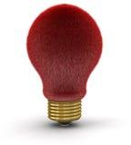 Pelz-Glühlampe (Beschneidungspfad eingeschlossen) Lizenzfreies Stockbild