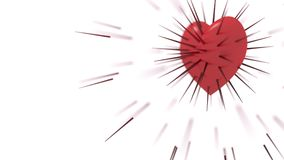 Pelzdorn des roten Herzens Stockbilder