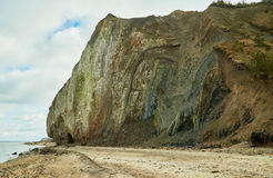 Pelzmarinesedimenttonminerale, Pelz-Insel, Dänemark Stockfotos