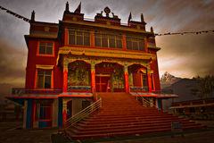 The Pema Monastery for Tibetan refugee Buddhist monks, Pokhara,. The Pema Monastery for Tibetan refugee Buddhist monks in Pokhara, Nepal Stock Photography