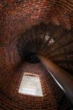 Pemaquid点灯塔楼梯和窗口 图库摄影
