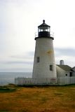 Pemaquid Light, Maine. View of Pemaquid Light, Maine, with ocean in the background Stock Images