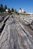 Pemaquid Lighthouse. Photo of Pemaquid Lighthouse in Maine.  This lighthouse is on the state quarter Royalty Free Stock Images