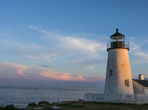 Pemaquid Lighthouse at Sunset Royalty Free Stock Photo
