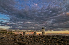 Pemaquid Lighthouse at Sunset Stock Image