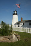 Pemaquid muzeum i latarnia morska zdjęcie stock