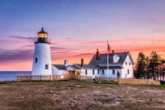 Pemaquid Point Light. In Bristol, Maine, USA royalty free stock photo
