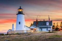 Pemaquid Point Light. In Bristol, Maine, USA stock photos