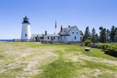 The Pemaquid Point lighthouse stock photos