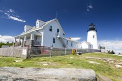 The Pemaquid Point lighthouse stock image