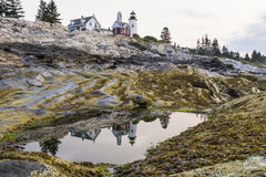 Pemaquid Point Light Reflected Stock Photos