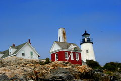 Pemaquid Point Light. View of Pemaquid Point Light in Maine Royalty Free Stock Photography