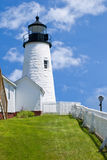 Pemaquid Point Lighthouse in Bristol, Maine Stock Photos