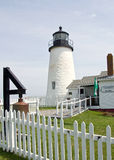Pemaquid Point Lighthouse. At East Boothbay Stock Photography