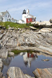 Pemaquid Point Lighthouse. At East Boothbay Royalty Free Stock Photography