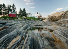 Pemaquid Point Lighthouse. A historic lighthouse on the coast of Maine Stock Image