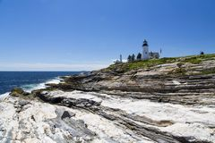 The Pemaquid Point lighthouse Royalty Free Stock Image